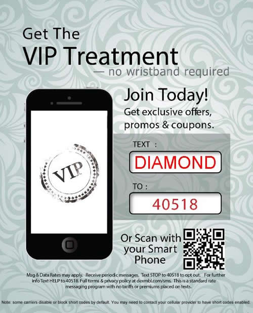 Sign up for texts from Diamond Exchange