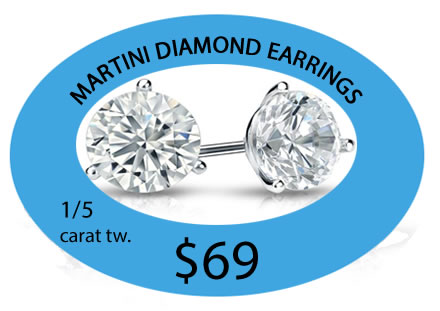 martini diamond earrings